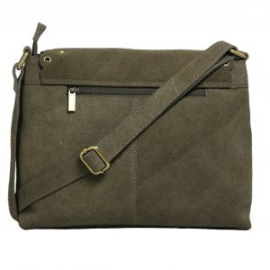 Cow Suede Grey Cross-body Genuine Leather Bag for Girls-2007-back