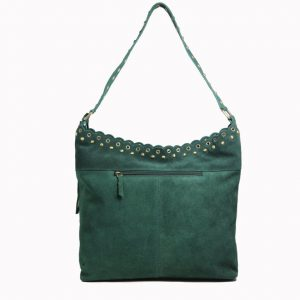 Green Leather Hobo For Girls-2009-front