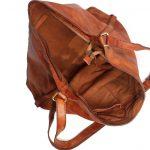 Tan Genuine Leather Hobo Bag For Women-2044-inside
