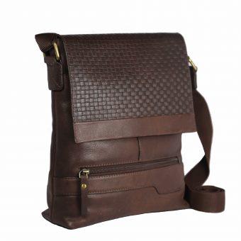 Leatherman Unisex Genuine Leather Messenger bag 8637-front45