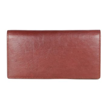 cow milled vt brown leather purse GNR-1095-front