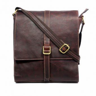 leather messenger bag-MN9051-front
