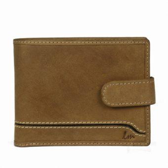 Bi-fold Tan Leather wallet for Men-NR1028-front