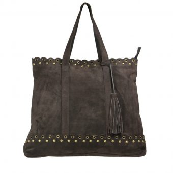 brown leather shopper bag-2009-front