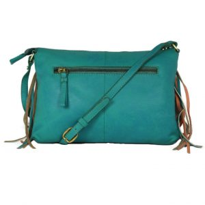 Genuine Leather Turquoise Handbag For Weekend-0011-back (leathermanfashion)