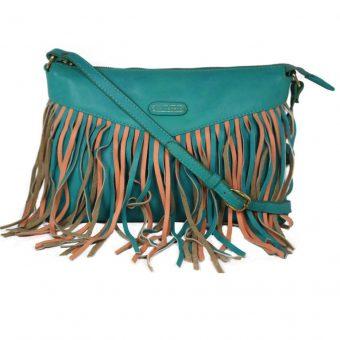 Genuine Leather Turquoise Handbag For Weekend-0011-front (leathermanfashion)