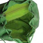 Parrot Green Drawstring Leather Backpack-0022-inside (leathermanfashion)