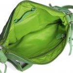Genuine Leather Dark Green Handbag For Weekend-0023 inside