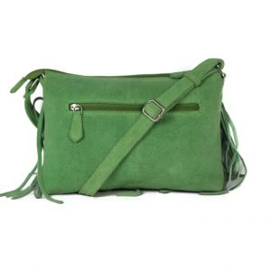 Genuine Leather Dark Green Handbag For Weekend-0023 back
