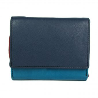 Multi colour leather wallet for girls-1004 front