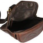Multifunctional: Cross Body / Belt Pouch Brown Men's Leather Bag 2026 inside