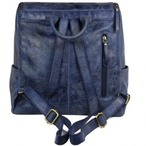 Beautiful Blue Leather Backpack For Men 2027 back (leathermanfashion)