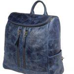 Beautiful Blue Leather Backpack For Men 2027 side (leathermanfashion)