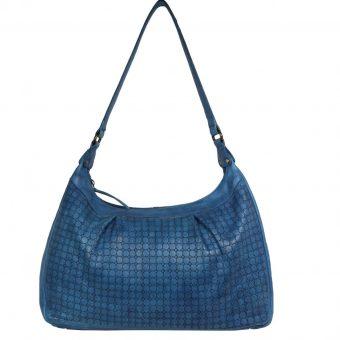 Blue Leather Hobo-2046 front (leathermanfashion)