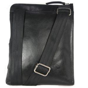 Stylish Crossbody Black Leatherbag For Boys-2067 front (leathermanfashion)