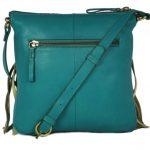 Frill Style Turquoise Sling Bag For Girls-NR0012 back (leathermanfashion)