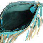 Frill Style Turquoise Sling Bag For Girls-NR0012 inside (leathermanfashion)