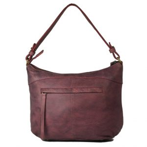 Burnish Wash Pink Leather Handbag-NR0051 back (leathermanfashion)