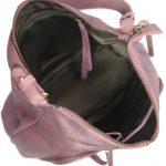 Burnish Wash Pink Leather Handbag-NR0051 inside (leathermanfashion)