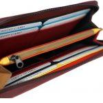 Multi color zip closure wallet for girls-ST 14-1-393 inside