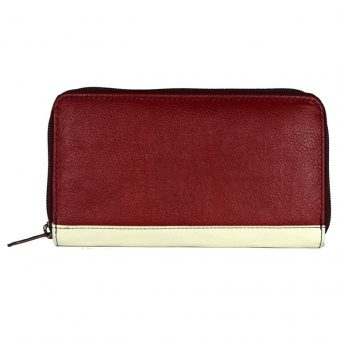 Multi color zip closure wallet for girls-ST 14-1-393 front
