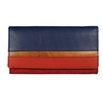 Multi Colour Women's Leather Wallet-ST 2025 Front