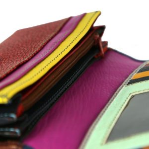 Multi Colour Women's Leather Wallet-ST 2025 inside
