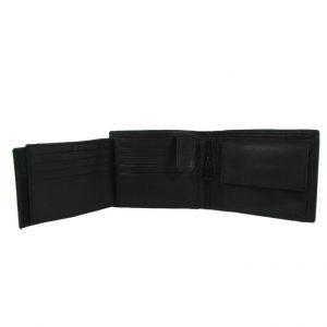 Bifold leather Wallet for Men-STC 002-inside