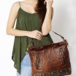 Women's Brown Leather Hobo Bag ladies bag