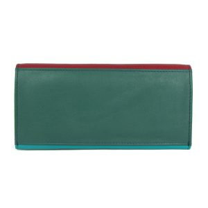 Flap Ladies Leather Multi Colour Purse-dw10 back