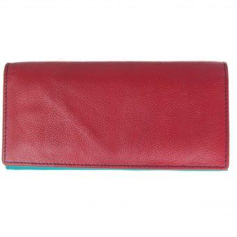Flap Ladies Leather Multi Colour Purse-dw10 front