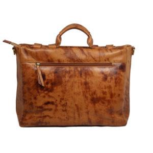 Genuine Leather Laptop Bag 2058 back (leathermanfashion)