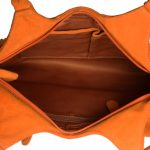 Genuine Leather Fringes Orange Handbag-nr7 inside (leathermanfashion)