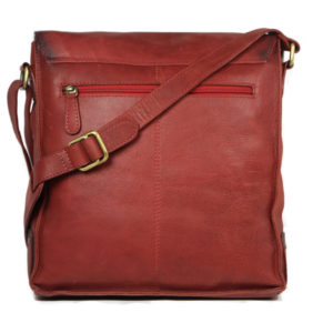 Red Crossbody Leather Bags For Men 102 back (leathermanfashion)