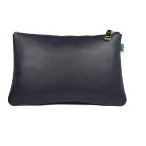 multi color leather clutch 2099 back (leathermanfashion)