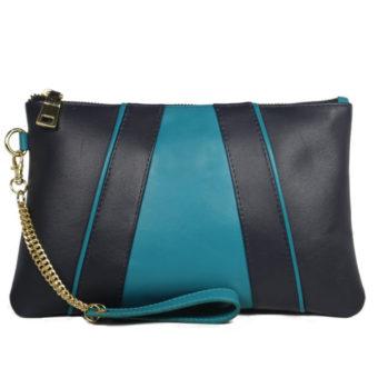 multi color leather clutch 2099 front (leathermanfashion)