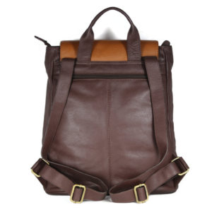 Multi Color Leather Backpack B183 back (leathermanfashion)