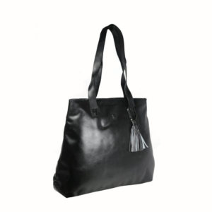 Black Tote For Women B06 side (leathermanfashion)