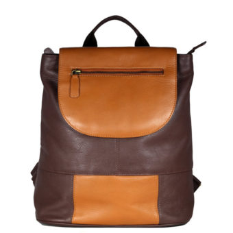 Multi Color Leather Backpack B183 front (leathermanfashion)