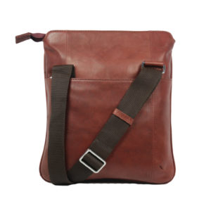 Light Brown Sling Bag For Men L32 back (leathermanfashion)