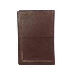 Men's Brown Leather Card Holder NR-1058 back (leathermanfashion)