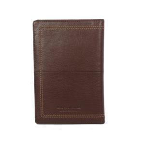 Men's Brown Leather Card Holder NR-1058 back (leathermanfashion)