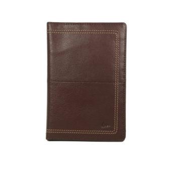 Men's Brown Leather Card Holder NR-1058 front (leathermanfashion)