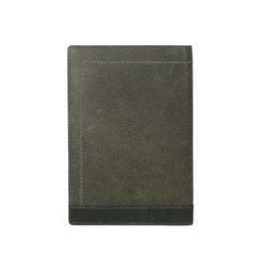Bi Fold Black / Smoke Color Passport And Card Holder NR1013 back (leathermanfashion)