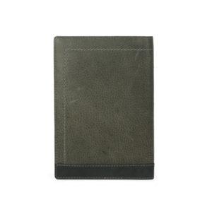 Bi Fold Black / Smoke Color Passport And Card Holder NR1013 back (leathermanfashion)