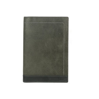 Bi Fold Black / Smoke Color Passport And Card Holder NR1013 front (leathermanfashion)