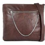 Men's Brown Messanger Hand bag FLA02 front (leathermanfashion)