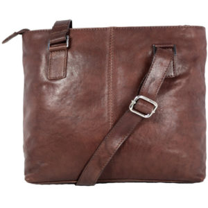 Men's Brown Messanger Hand bag FLA02 back (leathermanfashion)