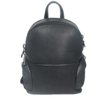 black leather backpack 2021 front (leathermanfashion)