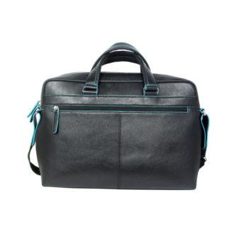 Black Leather Briefcase Bag 2062 front (leathermanfashion)